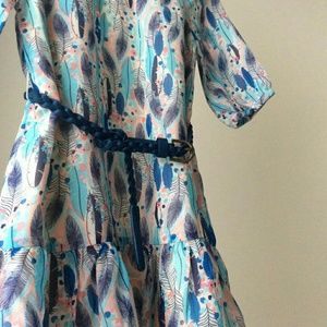 RUUM girls feathers chiffon dress